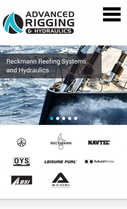Advacned Rigging - Mobile Website