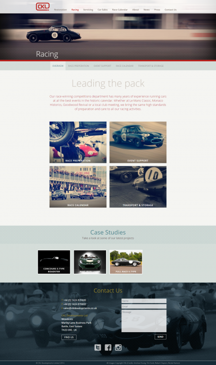 CKL Developments - Website Racing