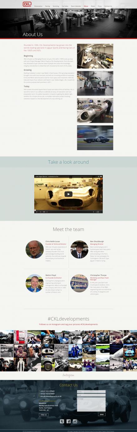 CKL Developments - Website About
