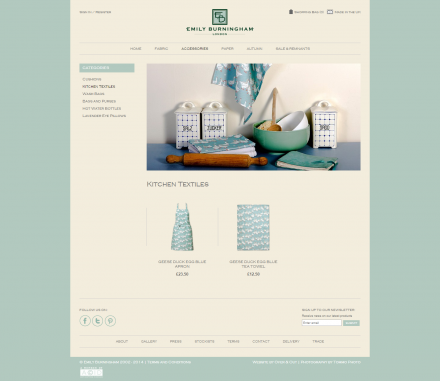 Emily Burningham - Website Catalogue