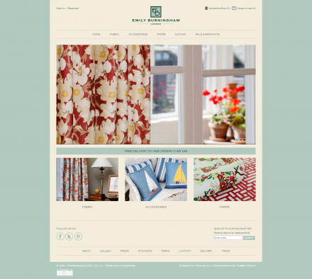 Emily Burningham - Website Home
