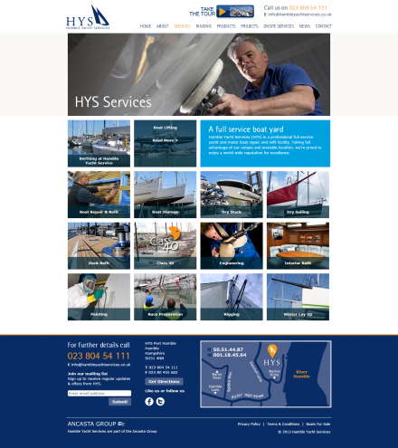 Hamble Yacht Services - Website Services