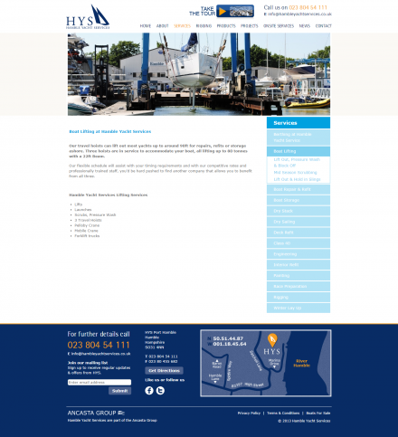 Hamble Yacht Services - Website Calculator