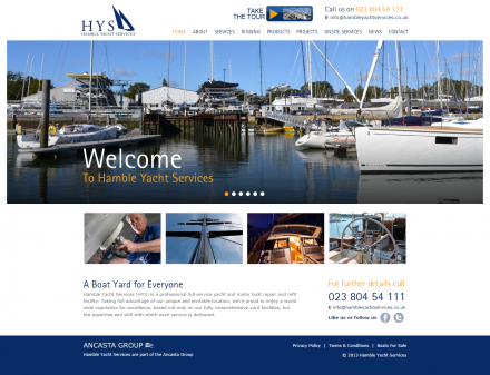 Hamble Yacht Services - Website Home