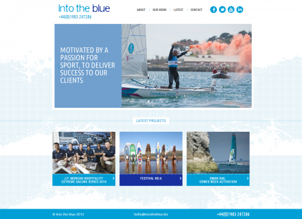 Into The Blue - Website Home
