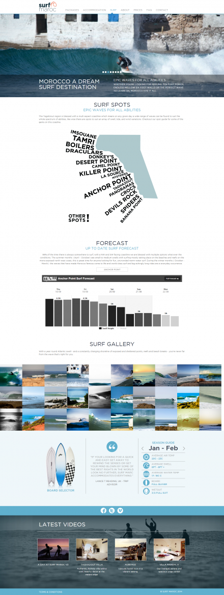 Surf Maroc - Website Surf