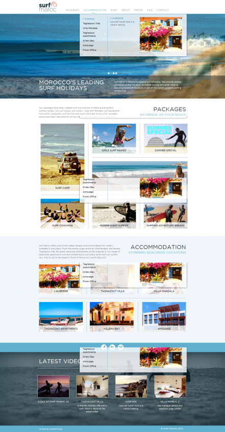 Surf Maroc - Website Home